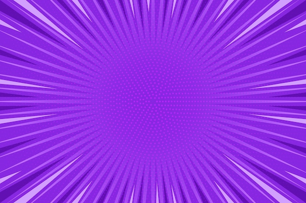 Flat design purple comic style background