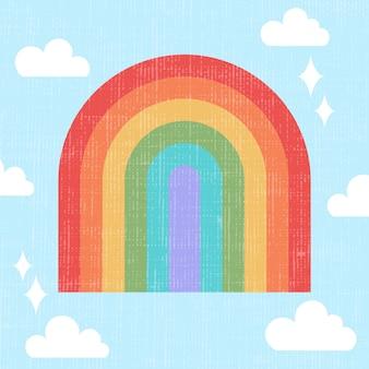 Flat design rainbow concept