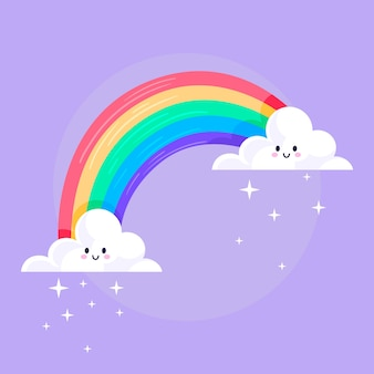 Плоский дизайн радуга