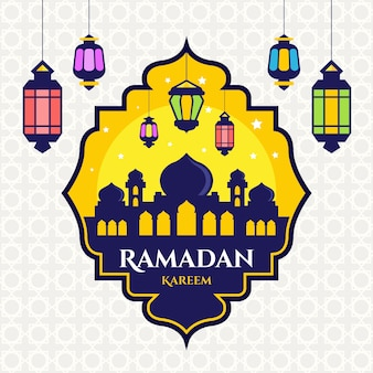 Flat design ramadan celebration