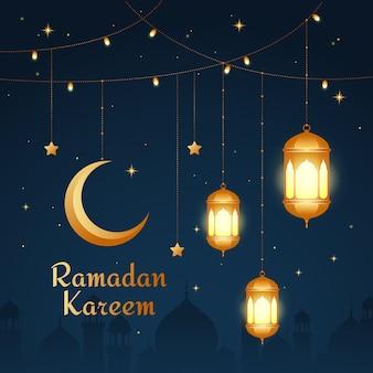 Flat design ramadan concept