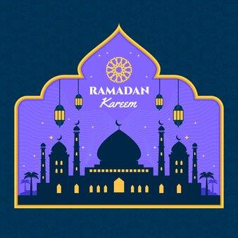 Flat design ramadan day event