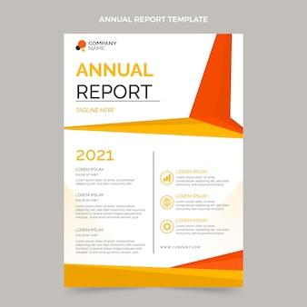 평면 디자인 부동산 연례 보고서