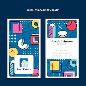 Flat design real estate horizontal business card