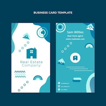Flat design real estate vertical business card