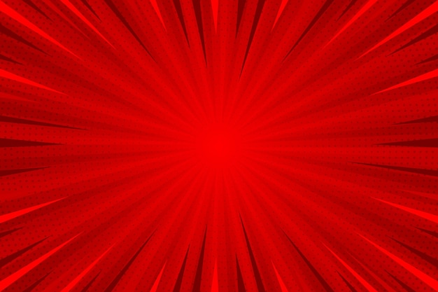 Flat design red comic style background