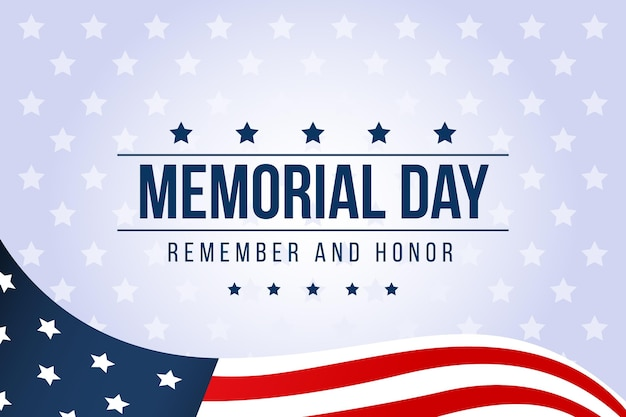 Flat design remember the memorial day