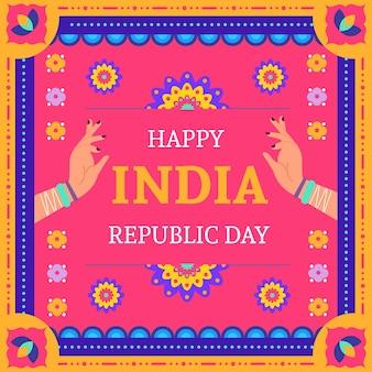 Flat design republic day illustration