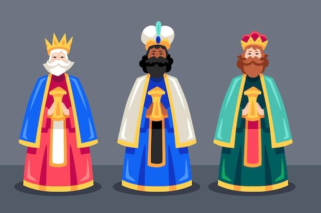 Flat design reyes magos day