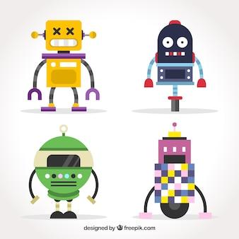 Коллекция персонажей с плоским дизайном