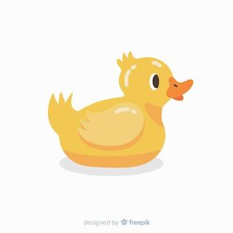 Flat design rubber duck