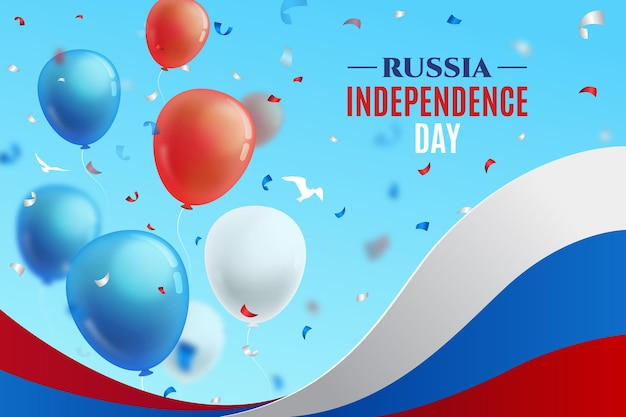 Flat design russia day background