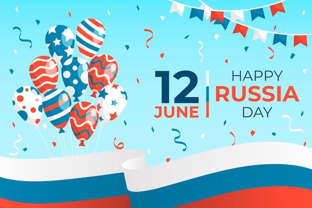 Плоский дизайн россии день обои