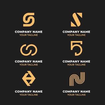 Коллекция логотипов в плоском дизайне