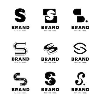 평면 디자인의 로고 컬렉션