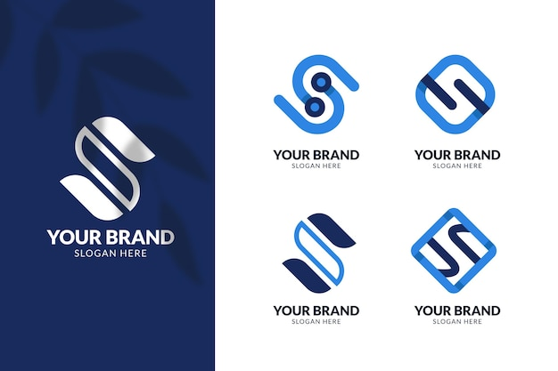 Flat design s logo collection