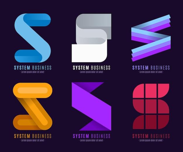 フラットデザインのロゴコレクション