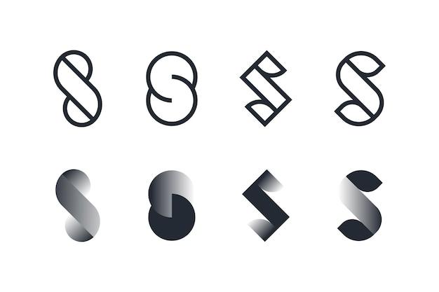평면 디자인의 로고 템플릿 컬렉션