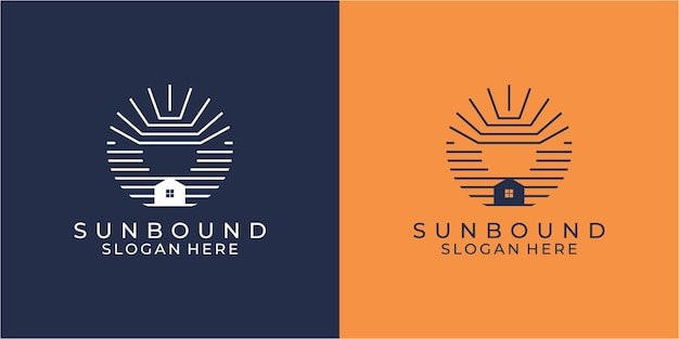 Коллекция шаблонов логотипа flat design