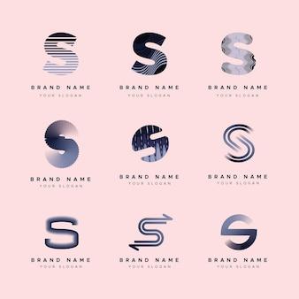 フラットデザインのロゴテンプレートコレクション