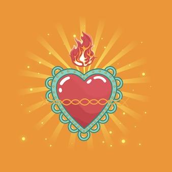 Плоский дизайн священного сердца