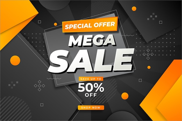 Flat design sale background with special discount