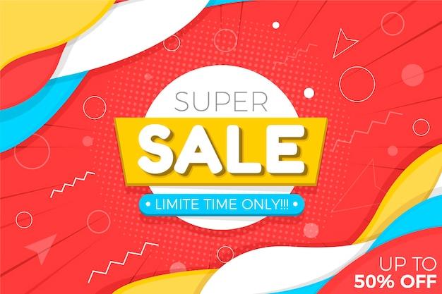 Flat design sale background