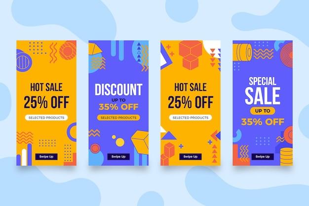 평면 디자인 판매 인스타그램 스토리 컬렉션