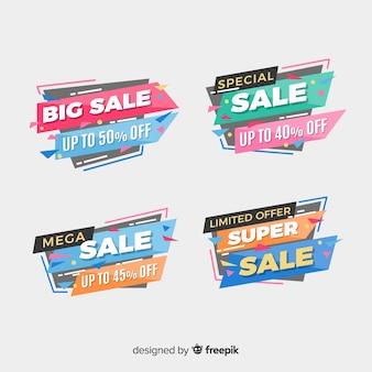 Flat design sale label collection