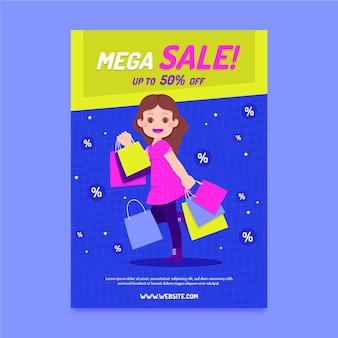 Flat design sale poster