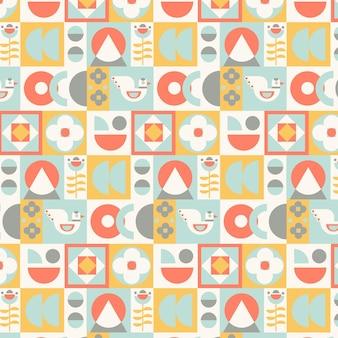 평면 디자인 스칸디나비아 디자인 패턴