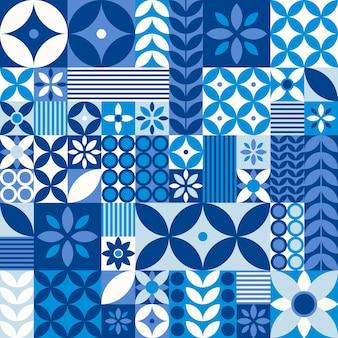 Плоский дизайн скандинавского образца дизайна