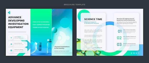 Modello di brochure scientifica design piatto