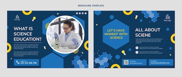 Brochure di scienze del design piatto