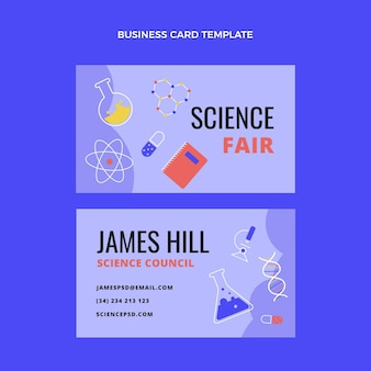 Flat design science business card