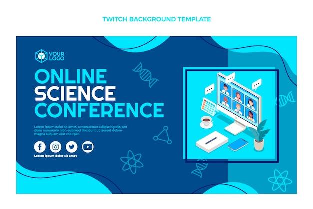 Плоский дизайн научной конференции подергивание фона