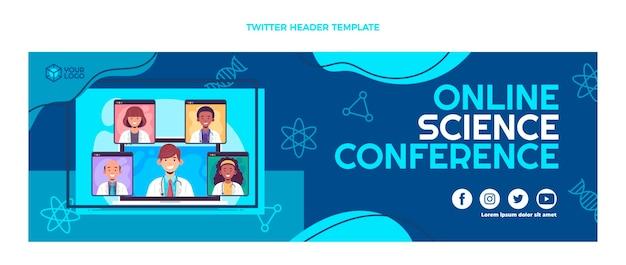 Flat design science conference twitter header