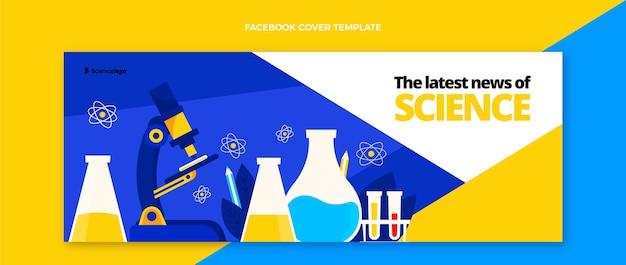 Copertina facebook di scienza del design piatto