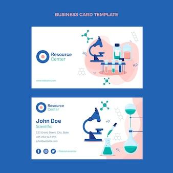Плоский дизайн науки горизонтальная визитная карточка