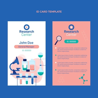 Flat design science id card template