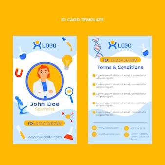 Flat design scienceid card