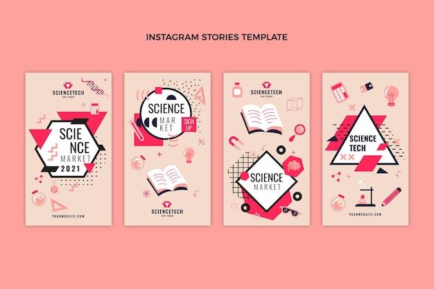 Flat design scienceinstagram stories