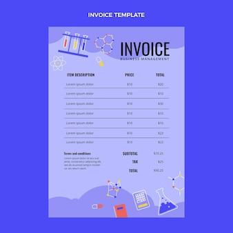 Flat design science invoice