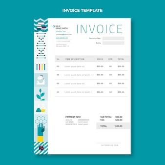 Flat designscience invoice