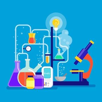 Flat design science lab theme