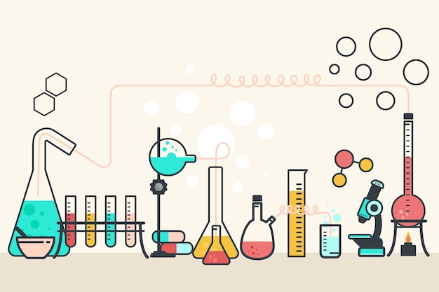 Flat design science lab