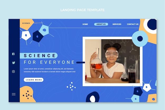 Flat design science landing page