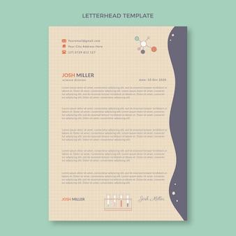 Flat design science letterhead template