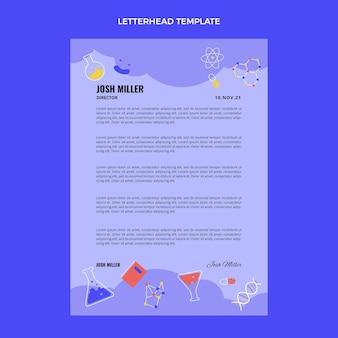 Flat design science letterhead
