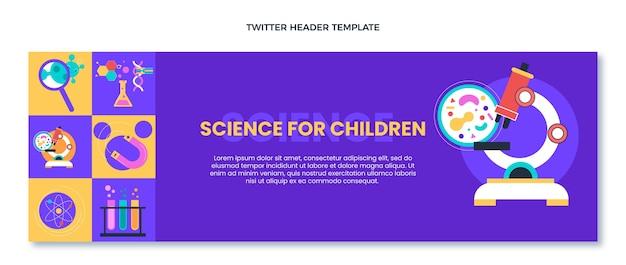 Flat design of sciencetwitter header